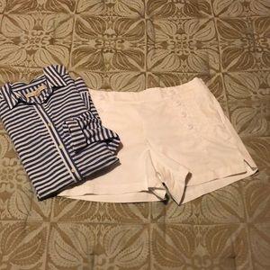 LOFT riviera white shorts 4